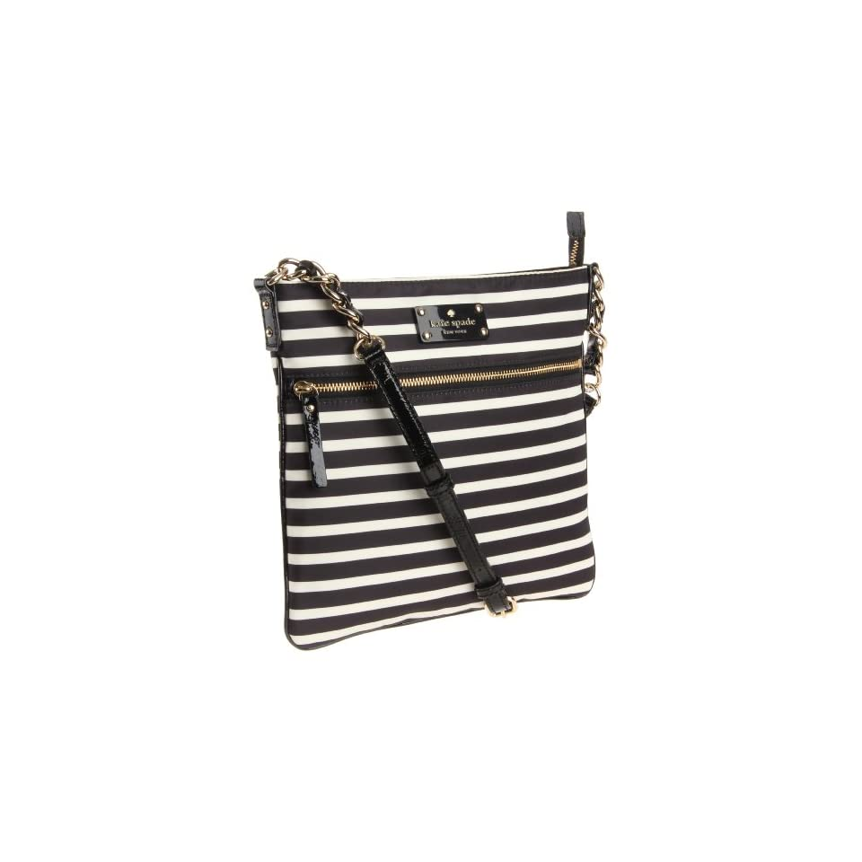 Kate Spade New York Kate Spade Nylon Stripe Ellen Cross Body Black/Cream One Size