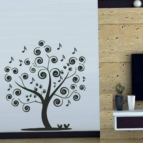 (Tomikko Wall Decal Tree Branch Music Note Melody Birdie Bedroom Decor Room M366 | Model DCR - 848)