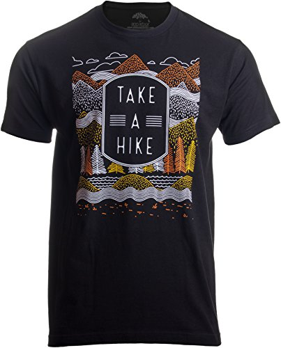 Printed Screen T-shirts - Take a Hike | Outdoor Nature Hiking Camping Graphic Saying for Men Women T-Shirt-(Adult,3XL) Black