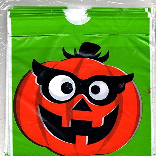 Halloween Drawstring Treat Bags with Pumpkin / Jack O'Lantern 18ct, Measures 6