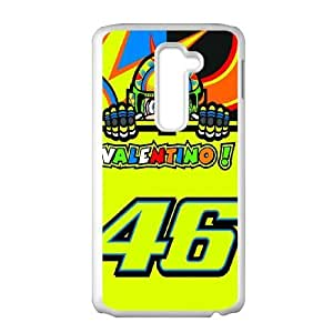LG G2 cell phone case White Valentino Rossi 46 phone cases&Holiday Gift P6684301