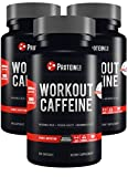 Workout Caffeine Capsules | Pre Workout Supplement | 3 x 100 Capsules