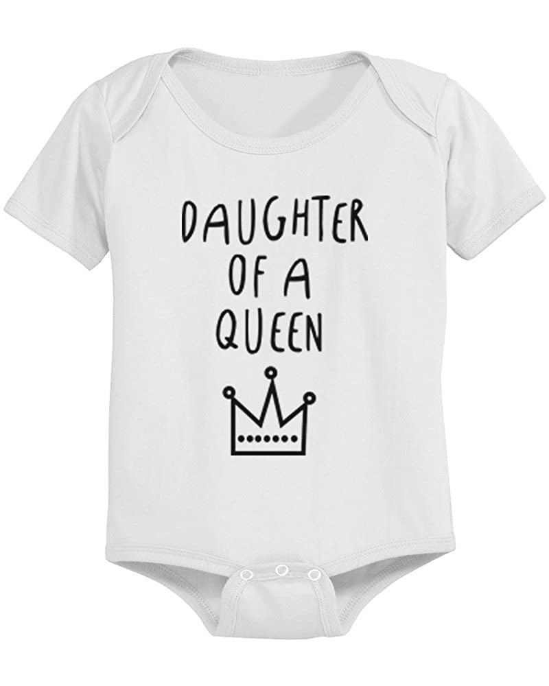 a4f90f404 Amazon.com  Mother Of Princess Mom Tee Daughter Of Queen Baby Girl ...