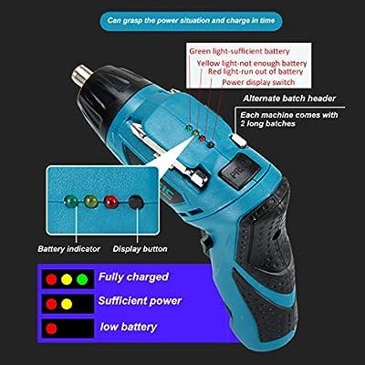 Amaae® Electric Screwdriver Toolbox 4 8V 45Pcs Drill Tool