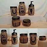 Western Mason Jar Bathroom Set For Sale