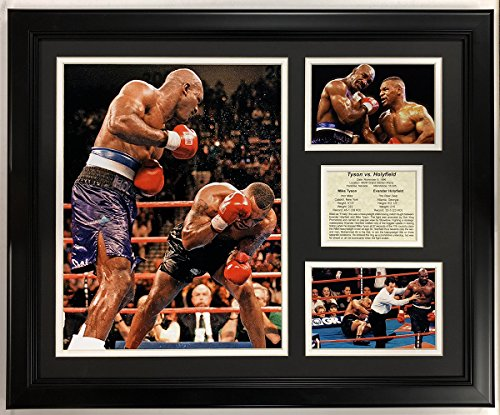 (Legends Never Die Mike Tyson Versus Evander Holyfield 1996 Framed Double Matted Photos, 18