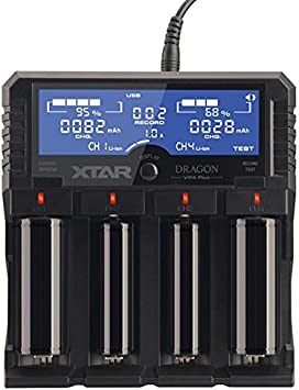 Original XTAR DRAGON VP4 PLUS Smart Battery Charger for 18650 and Battery Pack
