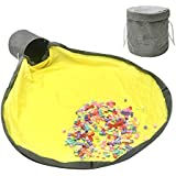 Heypeak Large Toy Storage Bag and Play Mat Toy Storage Basket Floor Mat Quick Storage Bag Baskets, Oxford Basket for Storage Bin Drawstring Portable Container for Kids Toys Room
