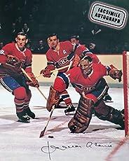 Facsimile Autographed Jacques Plante Action - Montreal