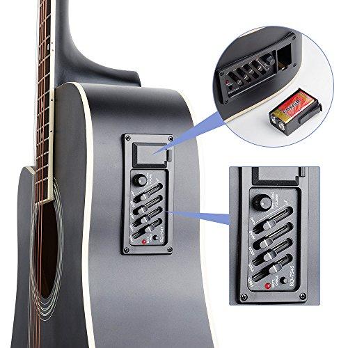 Vangoa VG-41ECL - Guitarra eléctrica acústica con bolsa de guitarra, correa, afinador, cuerda, púas, capo (41 pulgadas): Amazon.es: Instrumentos musicales