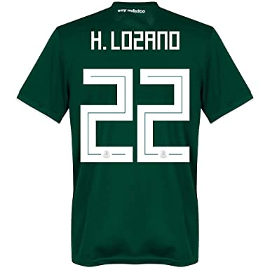 bb20637ac39 Amazon.com  adidas Mexico Home H. Lozano 22 Jersey 2018 2019 (Official  Printing) - L  Clothing