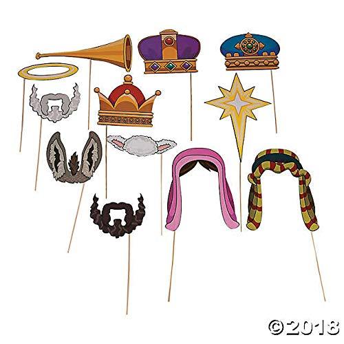 Nativity Costume Photo Stick Props-Religious activity- -