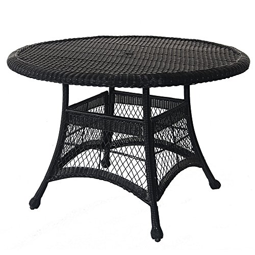 (Jeco W00202D-A Wicker Round Dining Table, 44