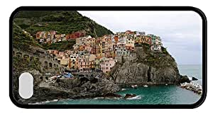 Hipster iPhone 4S luxury cover Manarola Cinque Italy TPU Black for Apple iPhone 4/4S