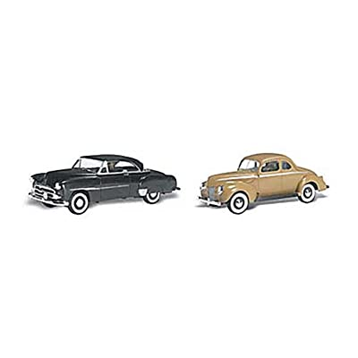 Woodland Scenics HO Scale AutoScenes Crusin' Coupes: Toys & Games