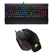 Corsair Gaming K70 LUX RGB Mechanical Keyboard, Backlit RGB LED, Cherry MX Brown and Corsair Gaming M65 PRO RGB FPS Gaming Mouse, Backlit RGB LED, 12000 DPI, Optical