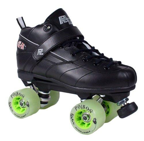 Rock GT50 Poison Black Quad Roller Derby Skates - Atom Poison