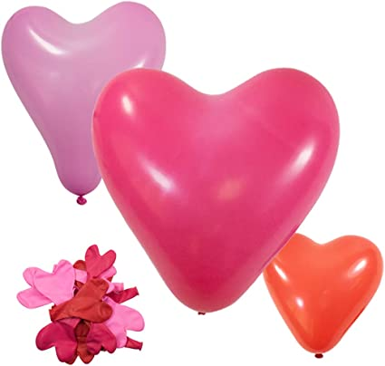 New 20X Colorful Heart Shaped Latex Balloons Wedding Birthday Party Decor Crafts
