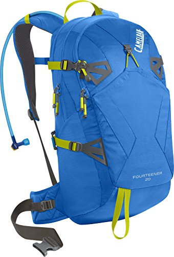 CamelBak Fourteener 20 Hydration Pack, Tahoe Blue/Lime Punch