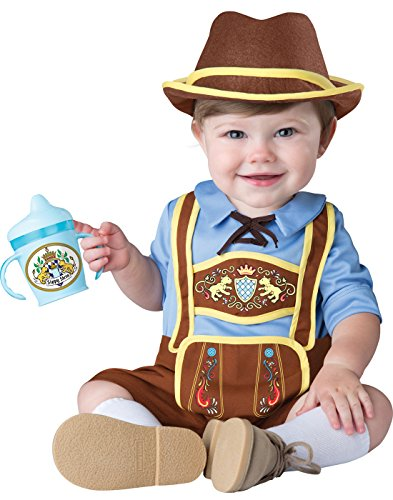 InCharacter Costumes Baby Boys' Little Lederhosen Costume, Blue/Brown, Small - German Baby Clothes