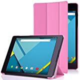 Google Nexus 9 Case - MoKo Ultra Slim Lightweight Smart-shell Stand Cover Case for Google Nexus 9 8.9 inch Volantis Flounder Android 5.0 Lollipop tablet by HTC, PINK