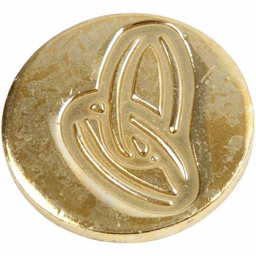 Manuscript Pen Decorative Seal Coin, 0.75-Inch, Rings