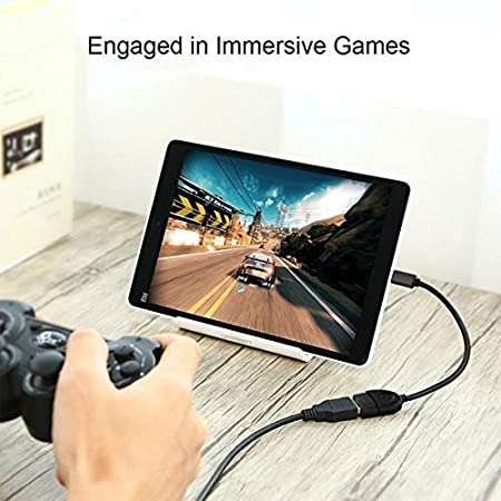 Micro USB to OTG Works with Huawei Lite Android Tablet Direct On-The-Go Connection Kit and Cable Adapter! Black