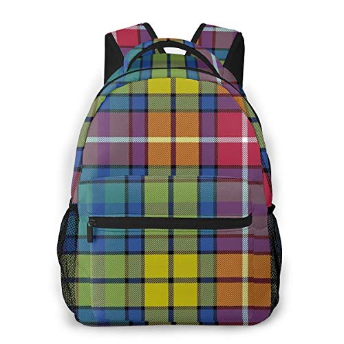 Buchanan Ancient Tartan School Backpack, Unisex Classic Lightweight Backpack Student Travel Outdoor Backpack With Bottle Side Pockets