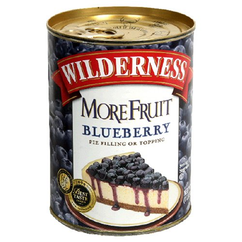 Wilderness Blueberry Fruit Pie Filling, 21-Ounce Container (Pack of 4)