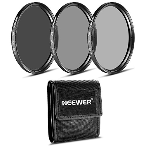 Neewer - Kit de Filtros ND de 72 mm + Gamuza de limpieza para Canon EF-S18-200 mm f/3.5-5.6 IS, EF 28-135 mm f/3.5-5.6 IS USM, NIKON 24-85 mm f/3.5-4.5G ED VR AF-S, 18-200 mm f/3.5-5.6G AF-SED VR II