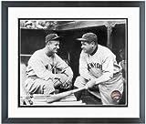 Babe Ruth Lou Gehrig New York Yankees MLB Photo (Size: 12.5' x 15.5') Framed