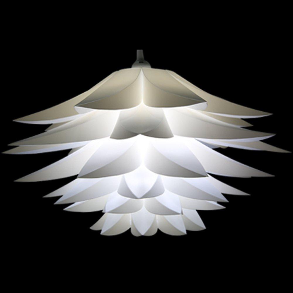 Lightingsky Ceiling Pendant Diy Iq Jigsaw Puzzle Lotus Flower Lamp
