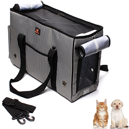 Pet Dogs Cats Airline Approved Travel Outdoor Carrier Bag ,Ezeso Portable Dog Purse Soft Comfort Oxford Tote Hand Bag For Dogs Cats (Small)