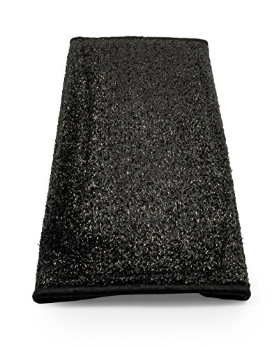 Camco-42947-RV-Step-Rug-Premium-Radius-Wrap-Around-Step-Rug-Turf-Material-22-Wide-Black