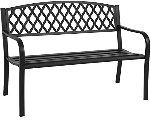 Best Choice Products 50in Steel Garden Bench