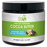 Cocoa Butter Unrefined, 100% Pure Raw Cocoa Butter 16oz - Skin Nourishing, Moisturizing & Healing, for Dry Skin, Stretch Marks - For Skin Care, Hair Care & DIY Recipes