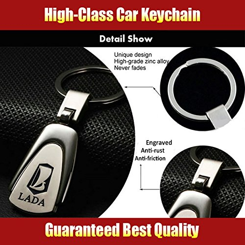 Amazon.com: CHAMPLED LADA Emblem Keychain Keyring Logo symbol sign badge personalized custom logotipo Quality Metal Alloy Nice Gift for Man Woman: Car ...