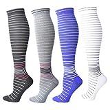 Compression Socks for Women Men 20-30 mmHg, Best Graduated Stockings for Running Nurses