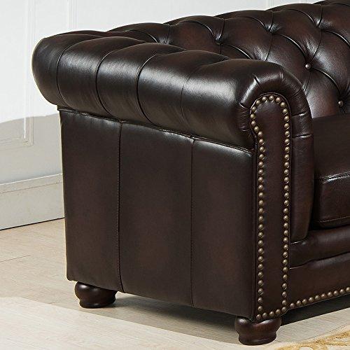 amazon com hydeline kennedy 100 leather 3 piece sectional sofa set rh amazon com