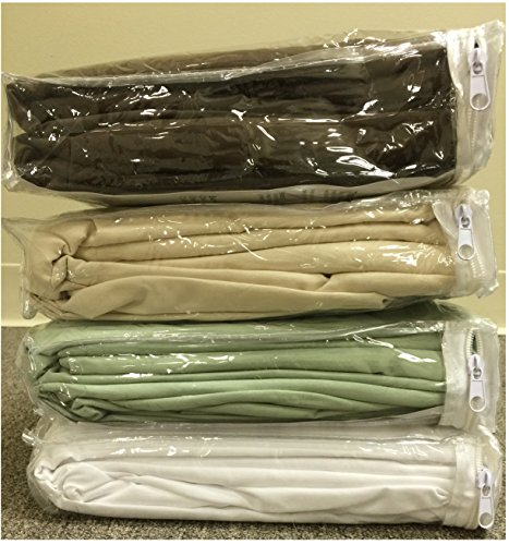 Therapist's Choice® Premium Deluxe Microfiber Massage Sheet Set, 3pc Set (Natural (Light Brown)) - Massage Table Sheets