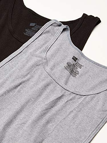 51INrt1DEmL. AC Hanes Men's FreshIQ Odor Control ComfortSoft Moisture Wicking Tagless Tank Undershirts – Multipack    Six pack of allover rib knit tank undershirts featuring scoop neckline and tagless label