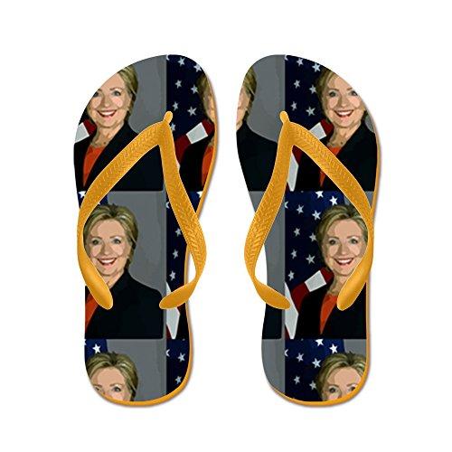 Cafepress Hillary Clinton - Infradito, Divertenti Sandali Infradito, Sandali Da Spiaggia Arancione