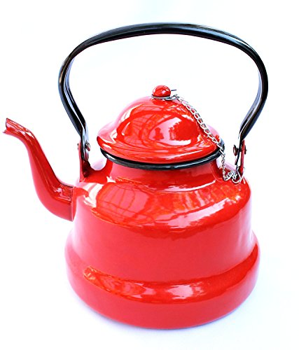 Teekessel Wasserkocher Teekocher BsB 2 L. emailliert Wasserkessel Emaille Nostalgie