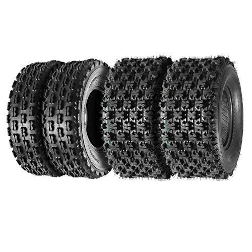 Set of 4 Sport ATV Tires 22x7-10 22x7x10 Front & 22x10-10 22x10x10 Rear 4PR Load Range B