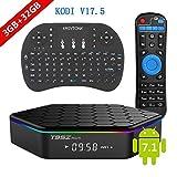 [2017 New Version] Genuine guarantee, sold by LCBOX, Kodi V17.6 T95Z Plus Android 7.1 Bluetooth TV Box Amlogic S912 64 Bits Octa Core 4K /H.265 /WiFi 2.4/5GHz /3GB+32GB+ Mini Wireless Keyboard