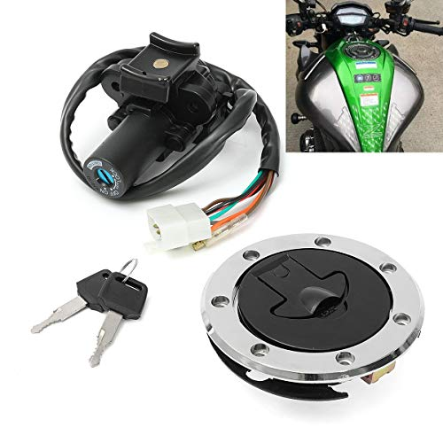 Kavas Motorcycle Ignition Switch Plane with Fuel Gas lock Cap Cover Lock Key For Kawasaki ZX7R ZX9R ZXR750 ZX900 New