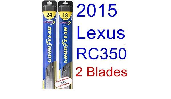 2015 Lexus RC350 hoja de limpiaparabrisas de repuesto Set/Kit (Goodyear limpiaparabrisas blades-hybrid): Amazon.es: Coche y moto