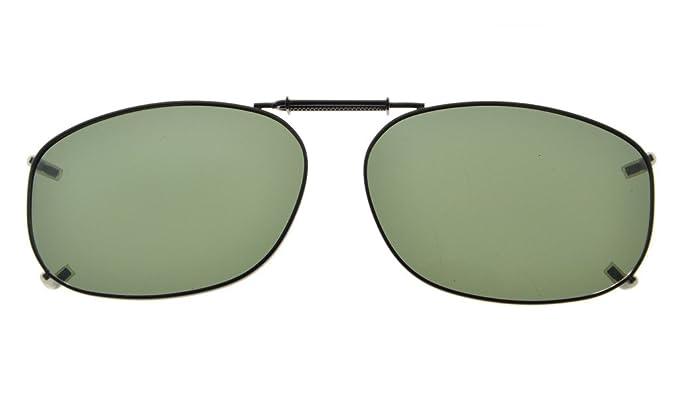 Eyekepper Marco del metal borde lente polarizada Clip sobre gafas de sol 54*37MM: Amazon.es: Salud y cuidado personal