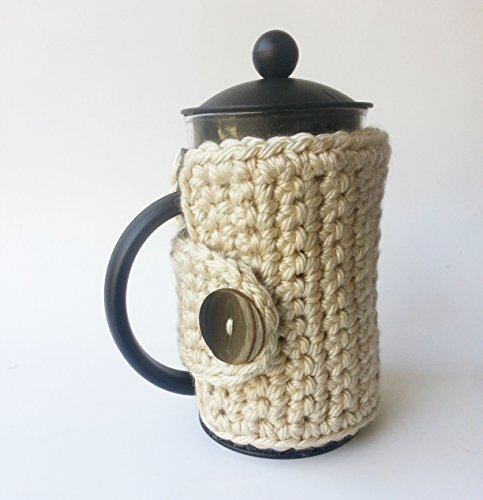 Handmade French Press Cozy Coffee Press Cozy Linen