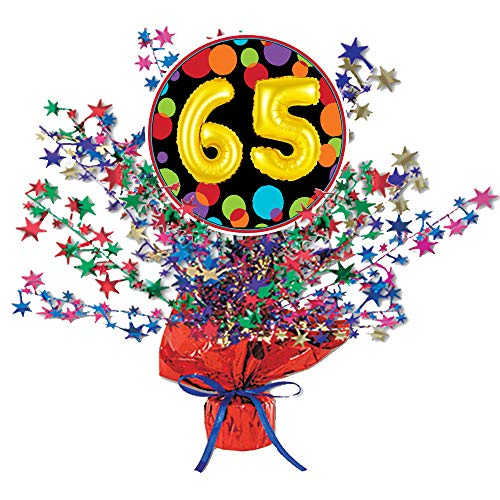 65th Birthday Balloon Centerpiece (Each) by Partypro from Partypro
